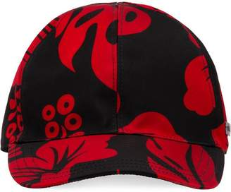 Prada two-tone print baseball cap