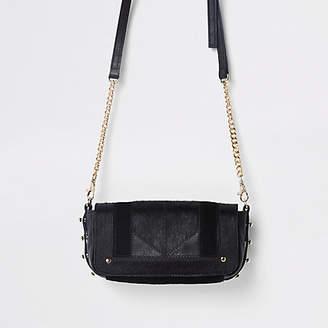 River Island Black leather cross body bag