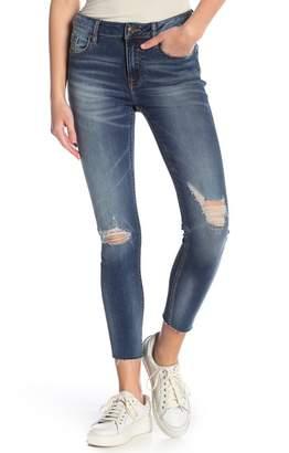Vigoss Destructed Marley Mid Rise Skinny Jeans