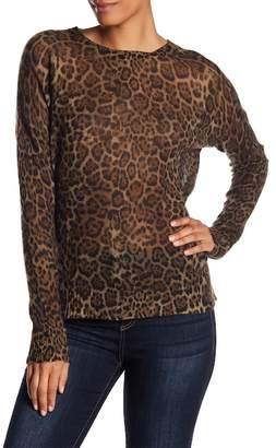 360 Cashmere Persephone Animal Print Sweater