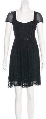 Blumarine Embellished Silk Dress