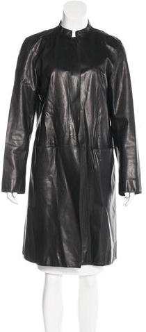 DKNYDKNY Single-Breasted Leather Coat