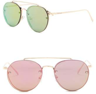 Steve Madden 57mm Rimless Aviator Sunglasses