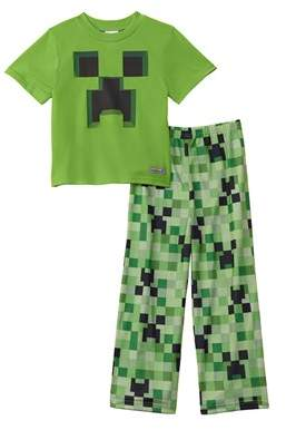 Character Sleepwear Boys' 2pc Minecraft Set.