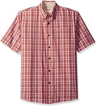 Wrangler Authentics Men's Short Sleeve Classic Plaid Shirt