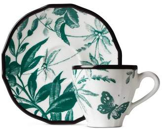Gucci Herbarium coffee cup and saucer double set