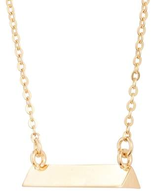 STELLA VALLE Triangle Shaped Bar Pendant Necklace