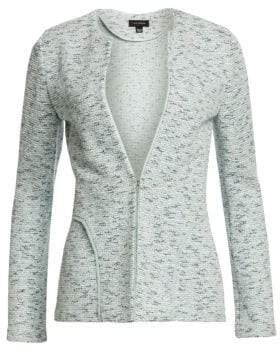 St. John Women's Alessandra Seam Detail Tweed Jacket - Opal Multi - Size 2