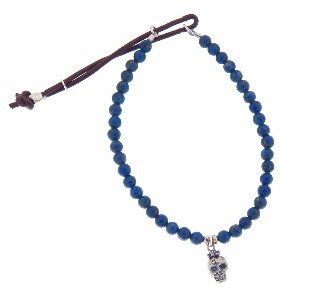 Catherine Michiels Tres Petit Bob with Blue Sapphire Eyes Stardust Bracelet - Lapis