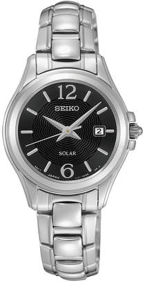 Seiko Women's Solar Dress Stainless Steel Bracelet Watch 27mm SUT249 $250 thestylecure.com