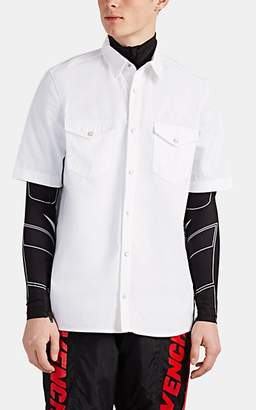 Givenchy Men's Logo-Trimmed Cotton Shirt - White