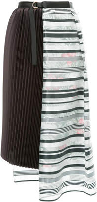 Kolor patchwork asymmetric skirt
