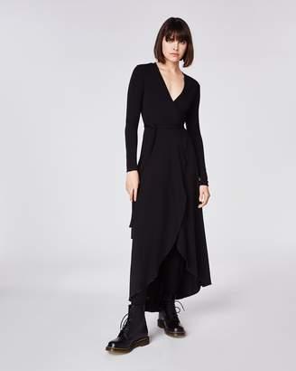 Nicole Miller St. Matte Jersey Wrap Dress