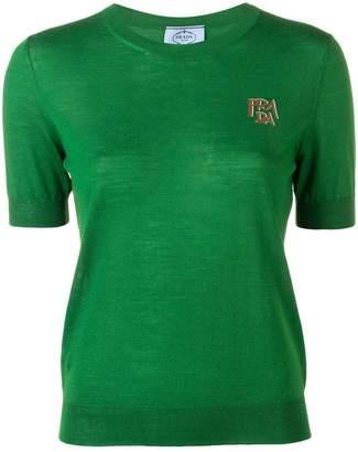 Prada logo short-sleeve sweater