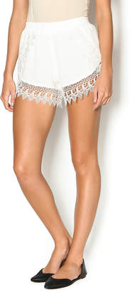Lucy-Love Lucy Love Whip Cream Scallop Shorts
