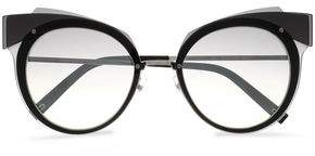 Marc Jacobs Cat-Eye Acetate And Silver-Tone Sunglasses