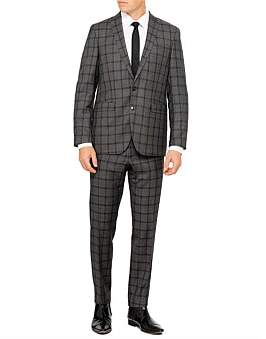 Sand 2B Sb Sv Fl Fr Wool Mel Wind Check Suit