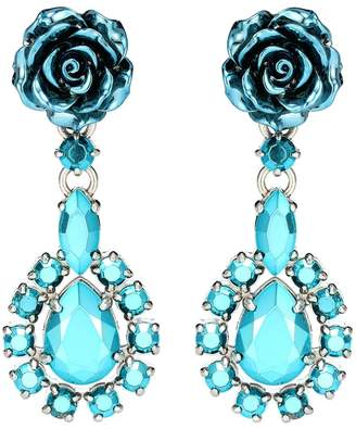 Prada Rose Jewels clip-on earrings