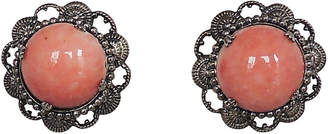 One Kings Lane Vintage 1950s Napier Faux-Coral Earrings - Carrie's Couture