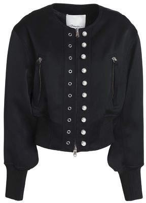 3.1 Phillip Lim Embellished Crepe-Satin Bomber Jacket