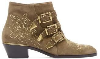 Chloé Susanna Suede Ankle Boots - Womens - Khaki
