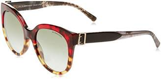 Burberry Women's 0BE4243 36358E Sunglasses, Red Light Havana/Greengradient