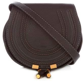 Chloé Marcie Mini Grained Leather Cross Body Bag - Womens - Black