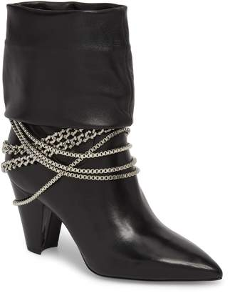 Self-Portrait Sadie Chain Embellished Slouch Boot