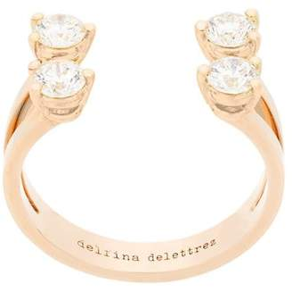 Delfina Delettrez 18kt champagne gold Dots diamond ring