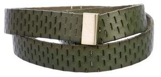 Diane von Furstenberg Perforated Leather Belt