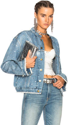 Alexandre Vauthier Crystal Studded Denim Jacket