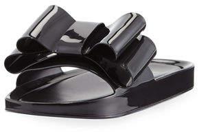 Melissa Shoes Beach Patent Bow Slide Sandal