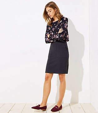 LOFT Knit Pocket Pull On Pencil Skirt