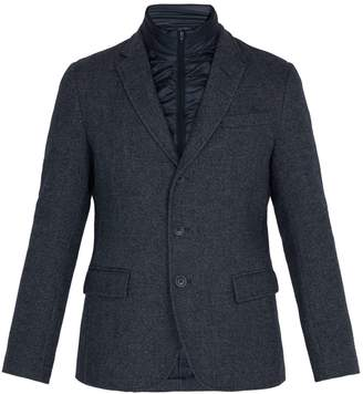 Herno Frosted wool-blend jacket with quilted insert