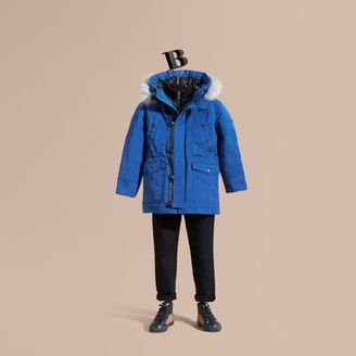 Burberry Fur-trimmed Down-filled Hooded Puffer Coat $650 thestylecure.com