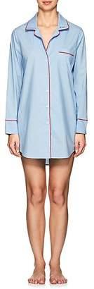 """Barneys New York Women's """"Zzzz"""" Cotton Sleep Shirt - Light Blue 9"""