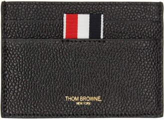 Thom Browne ブラック シングル カード ホルダー