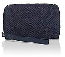 Barneys New York MEN'S FAUX-PYTHON WRISTLET-NAVY