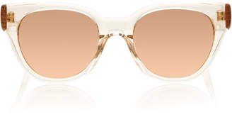 Linda Farrow Rose-Gold Acetate Sunglasses