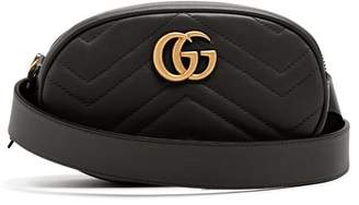Gucci Gg Marmont Quilted Leather Belt Bag - Womens - Black