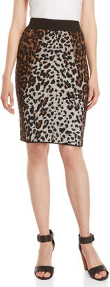 Desigual Leopard Knit Pencil Skirt