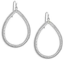 Rivka Friedman Crystal Open Drop Earrings