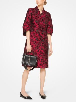 Michael Kors Rose Silk Jacquard Coat