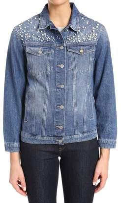 Mavi Jeans Imitation Pearl Embellished Denim Jacket