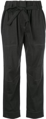 Brunello Cucinelli cropped denim-look trousers