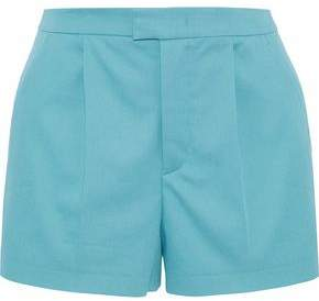 RED Valentino Pleated Stretch-Cotton Twill Shorts