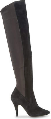 Dune Stretchy over-the-knee suede boots