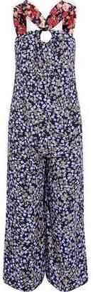 Mother of Pearl Open-Back Floral-Print Silk Crepe De Chine Jumpsuit