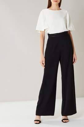 Coast Womens Black Sicily Wide Leg Trouser - Black