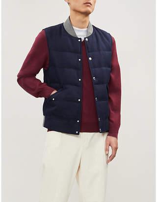 Brunello Cucinelli V-neck wool and cashmere-blend jumper